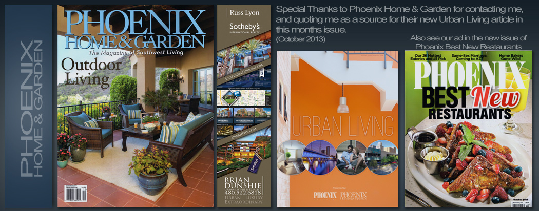 phoenix home & garden magazine quotes real estate agent Brian Dunshie for Urban living